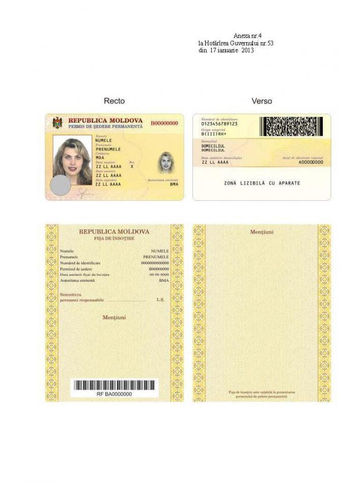 Moldova moldavia il nuovo permesso di soggiorno per for Carta di soggiorno a tempo indeterminato