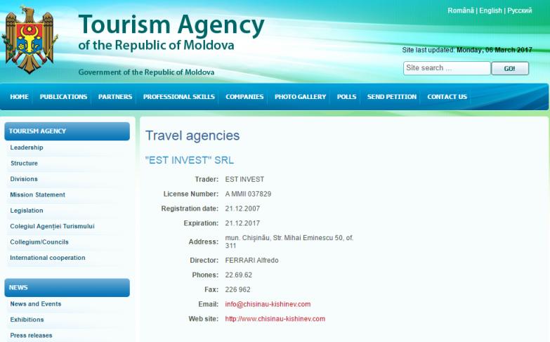 agenzia turistica italiana chisinau moldova moldavia.PNG