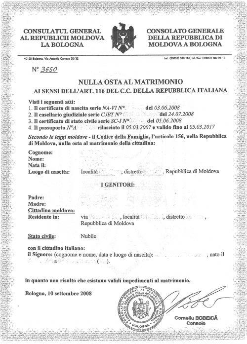 Matrimonio in italia pagina 7 visto permesso e carta for Permesso di soggiorno per matrimonio con cittadino italiano